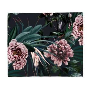 Vintage Floral Fleece Blanket