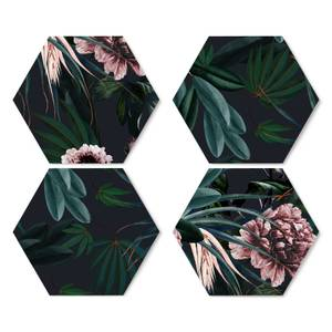 Vintage Floral Hexagonal Coaster Set