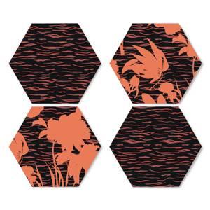 Floral & Animal Hexagonal Coaster Set