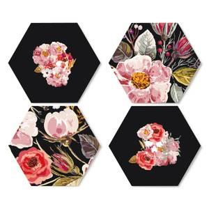 Flowers & Skulls Hexagonal Coaster Set