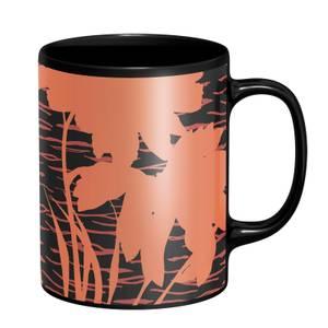 Floral & Animal Mug - Black
