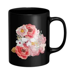 Flowers & Skull Mug - Black