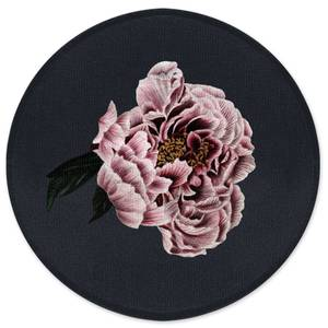 Vintage Rose Round Bath Mat