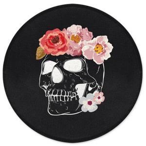 Flower & Skull Round Bath Mat
