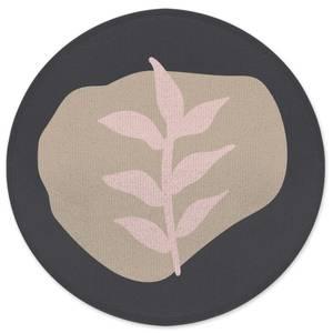 Natural Leaf Round Bath Mat