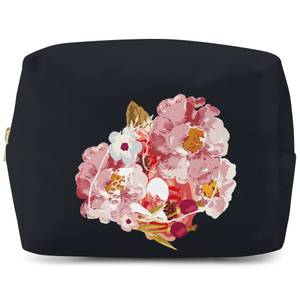 Flower & Skull Wash Bag