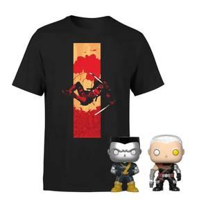 Deadpool - T-Shirt & POP! Vinyl Bündel