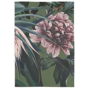 Realistic Blush Dark Floral Tea Towel