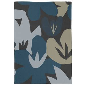Abstract Navy Floral Tea Towel