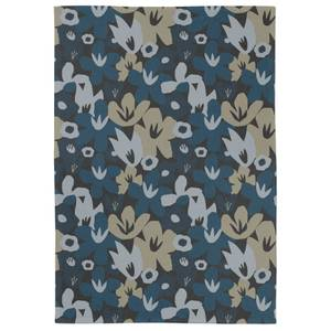 Abstract Small Navy Floral Tea Towel