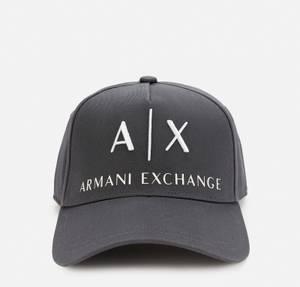 Armani Exchange Men's Ax Logo Cap - Lead/Off White