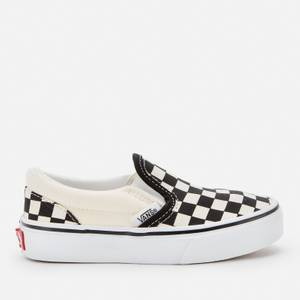 Vans Kids' Classic Slip-On Checkerboard Trainers - Black/White
