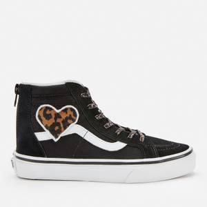 Vans Kids' SK8-Hi Zip Leopard Trainers - Heart/Black