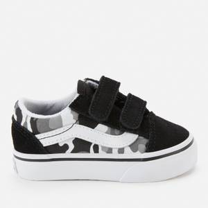Vans Toddlers' Old Skool Primary Camo V Trainers - Black/True White