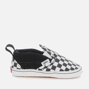 Vans Baby Slip-On V Crib Trainers - Checkerboard Black