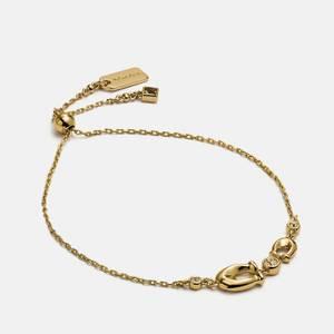 Coach Women's C Crystal Slider Bracelet - Gold/Clear