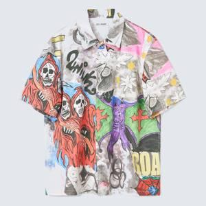 Our Legacy Men's Box Short Sleeve Shirt - Skeletorn Print