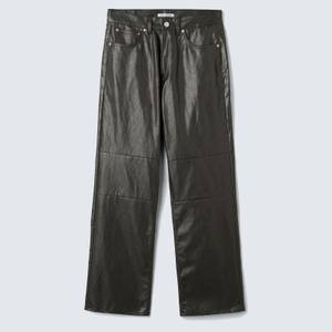 Our Legacy Men's Extended Third Cut Trousers - Black/Brown Fake Leather