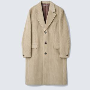 Our Legacy Men's Dolphin Coat - Clay Grey Cord