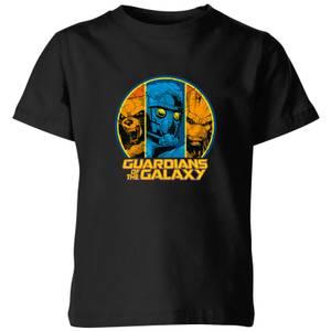 Marvel Guardians Of The Galaxy Badge Kids' T-Shirt - Black