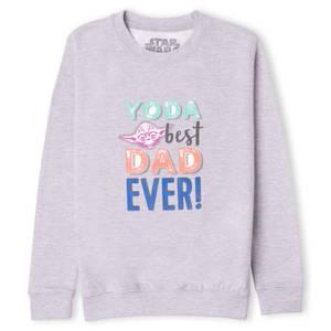 Star Wars Yoda Best Dad Ever! Kids' Sweatshirt - Grey