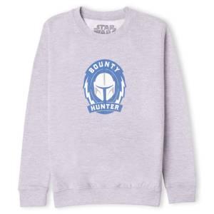 Star Wars The Mandalorian Bounty Hunter Kids' Sweatshirt - Grey