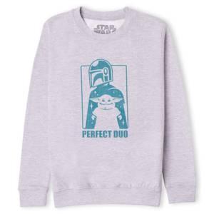 Star Wars The Mandalorian Perfect Duo Kids' Sweatshirt - Grey