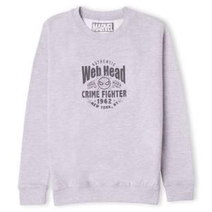 Marvel Web Head Crime Fighter Kids' Sweatshirt - Grey