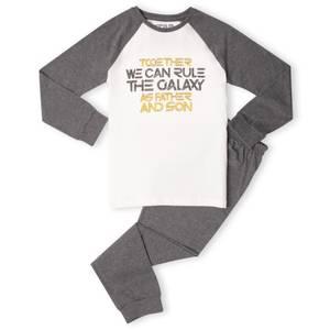 Father And Son Kids' Pyjamas - White/Grey