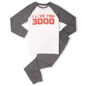 Marvel I Love You 3000 Kids' Pyjamas - White/Grey