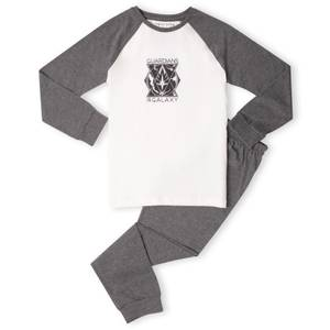 Marvel Guardians Triangle Badge Kids' Pyjamas - White/Grey