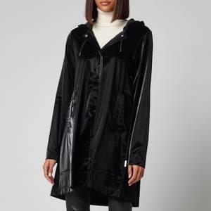 Rains A-Line Jacket - Velvet Black