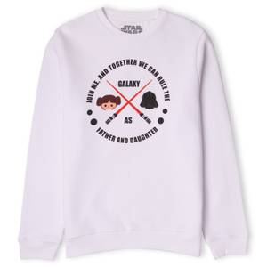 Father And Daughter Sweatshirt - White