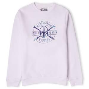 Star Wars The Mandalorian Bounty Hunter Warrior Sweatshirt - White