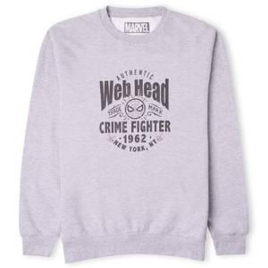Marvel Web Head Crime Fighter Sweatshirt - Grey