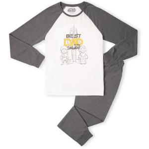 Best Dad In The Galaxy Men's Pyjama Set - White/Grey