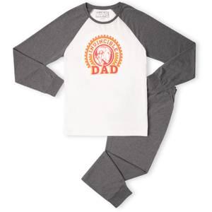 Invincible Dad Men's Pyjama Set - White/Grey