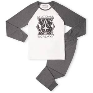 Marvel Guardians Triangle Badge Men's Pyjama Set - White/Grey