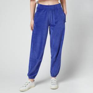 Les Girls Les Boys Women's Velour Sweats Loose Fit Joggers - Blue