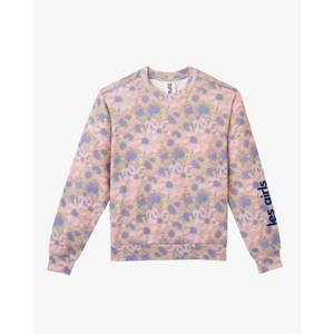 Les Girls Les Boys Women's Hazy Daisy Print Crew Neck Sweatshirt - Multi