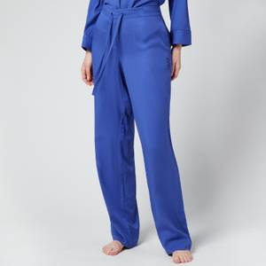 Les Girls Les Boys Women's Plain Viscose Girls Pj Bottoms - Blue