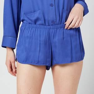 Les Girls Les Boys Women's Plain Viscose Girls Shorts - Blue