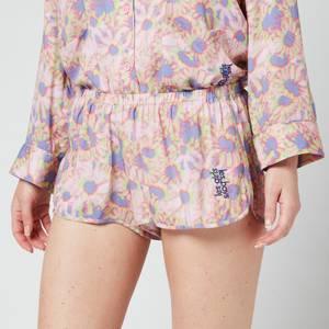 Les Girls Les Boys Women's Hazy Daisy Print Viscose Girls Shorts - Multi