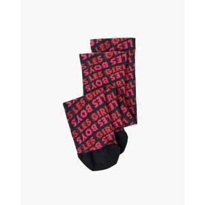 Les Girls Les Boys Women's Lglb Allover Fuzzy Print Socks - Red