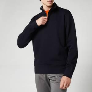 GANT Men's Sacker Rib Half-Zip Sweatshirt - Navy