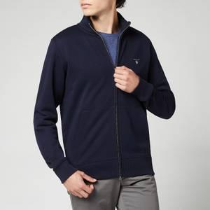 GANT Men's Original Full-Zip Cardigan - Evening Blue