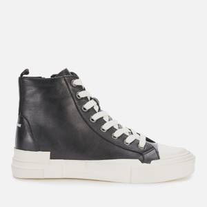 Ash Women's Ghibly Bis Leather Hi-Top Trainers - Black