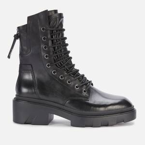 Ash Women's Madness Leather Lace Up Boots - Black