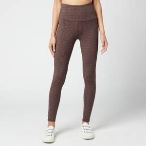 MICHAEL Michael Kors Women's Mk Dot Highwaist Leggings - Chocolate