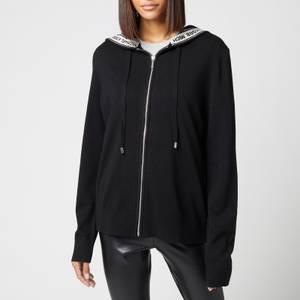 MICHAEL Michael Kors Women's Unisex Zip Hoodie - Black